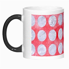 Circles1 White Marble & Red Watercolor Morph Mugs by trendistuff