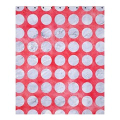 Circles1 White Marble & Red Watercolor Shower Curtain 60  X 72  (medium)  by trendistuff