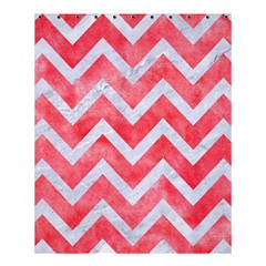 Chevron9 White Marble & Red Watercolor Shower Curtain 60  X 72  (medium)  by trendistuff