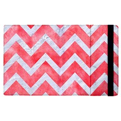 Chevron9 White Marble & Red Watercolor Apple Ipad Pro 9 7   Flip Case by trendistuff