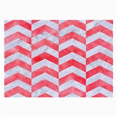 Chevron2 White Marble & Red Watercolor Large Glasses Cloth by trendistuff
