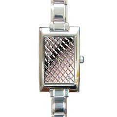 3d Abstract Pattern Rectangle Italian Charm Watch