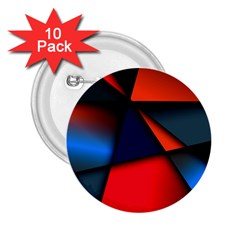 3d And Abstract 2 25  Buttons (10 Pack)