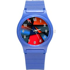3d And Abstract Round Plastic Sport Watch (s)