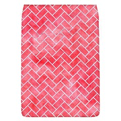 Brick2 White Marble & Red Watercolor Flap Covers (l)  by trendistuff