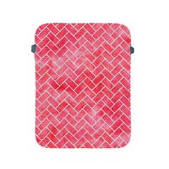 Brick2 White Marble & Red Watercolor Apple Ipad 2/3/4 Protective Soft Cases by trendistuff