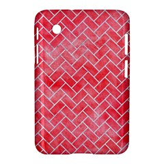 Brick2 White Marble & Red Watercolor Samsung Galaxy Tab 2 (7 ) P3100 Hardshell Case  by trendistuff