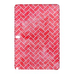 Brick2 White Marble & Red Watercolor Samsung Galaxy Tab Pro 12 2 Hardshell Case by trendistuff