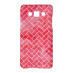 Brick2 White Marble & Red Watercolor Samsung Galaxy A5 Hardshell Case  by trendistuff