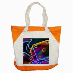 3d Cube Dice Neon Accent Tote Bag by Sapixe