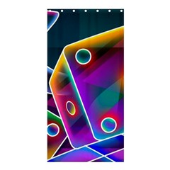 3d Cube Dice Neon Shower Curtain 36  X 72  (stall)