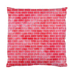 Brick1 White Marble & Red Watercolor Standard Cushion Case (one Side) by trendistuff