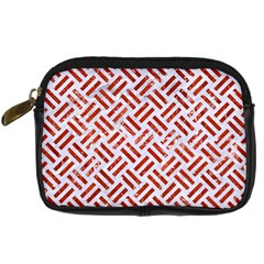 Woven2 White Marble & Red Marble (r) Digital Camera Cases by trendistuff