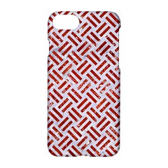 Woven2 White Marble & Red Marble (r) Apple Iphone 7 Hardshell Case by trendistuff