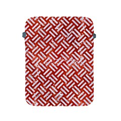 Woven2 White Marble & Red Marble Apple Ipad 2/3/4 Protective Soft Cases by trendistuff