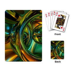 3d Transparent Glass Shapes Mixture Of Dark Yellow Green Glass Mixture Artistic Glassworks Playing Card