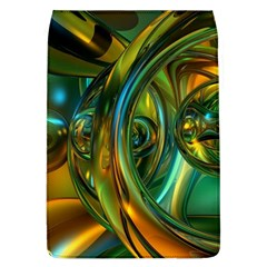 3d Transparent Glass Shapes Mixture Of Dark Yellow Green Glass Mixture Artistic Glassworks Flap Covers (l)  by Sapixe