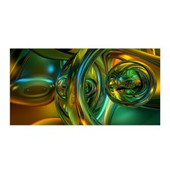 3d Transparent Glass Shapes Mixture Of Dark Yellow Green Glass Mixture Artistic Glassworks Satin Wrap by Sapixe