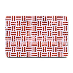Woven1 White Marble & Red Marble (r) Small Doormat