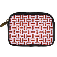 Woven1 White Marble & Red Marble (r) Digital Camera Cases by trendistuff