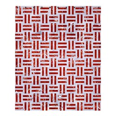 Woven1 White Marble & Red Marble (r) Shower Curtain 60  X 72  (medium)  by trendistuff