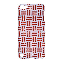 Woven1 White Marble & Red Marble (r) Apple Ipod Touch 5 Hardshell Case by trendistuff
