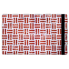 Woven1 White Marble & Red Marble (r) Apple Ipad 3/4 Flip Case by trendistuff