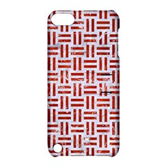 Woven1 White Marble & Red Marble (r) Apple Ipod Touch 5 Hardshell Case With Stand by trendistuff