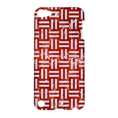 Woven1 White Marble & Red Marble Apple Ipod Touch 5 Hardshell Case by trendistuff