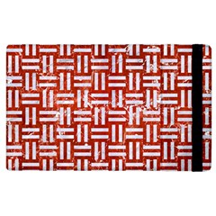 Woven1 White Marble & Red Marble Apple Ipad 2 Flip Case by trendistuff