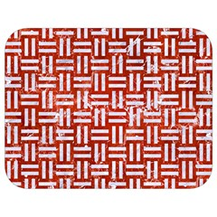 Woven1 White Marble & Red Marble Full Print Lunch Bag by trendistuff