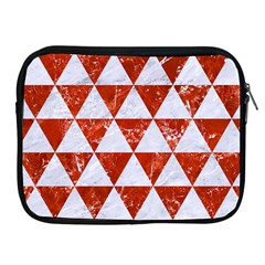 Triangle3 White Marble & Red Marble Apple Ipad 2/3/4 Zipper Cases by trendistuff