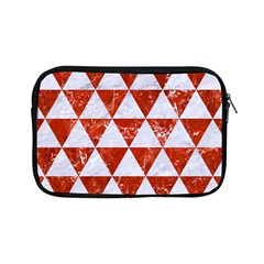 Triangle3 White Marble & Red Marble Apple Ipad Mini Zipper Cases by trendistuff