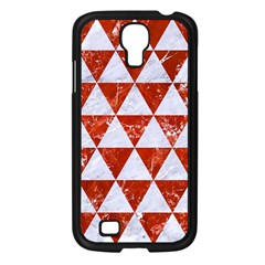 Triangle3 White Marble & Red Marble Samsung Galaxy S4 I9500/ I9505 Case (black) by trendistuff