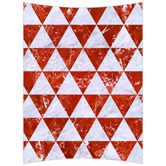 Triangle3 White Marble & Red Marble Back Support Cushion