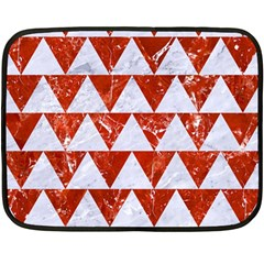 Triangle2 White Marble & Red Marble Fleece Blanket (mini)