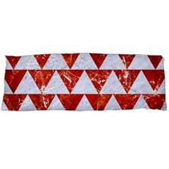 Triangle2 White Marble & Red Marble Body Pillow Case Dakimakura (two Sides) by trendistuff
