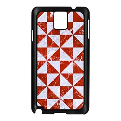 Triangle1 White Marble & Red Marble Samsung Galaxy Note 3 N9005 Case (black) by trendistuff