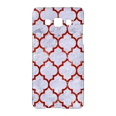Tile1 White Marble & Red Marble (r) Samsung Galaxy A5 Hardshell Case