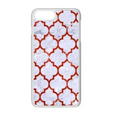 Tile1 White Marble & Red Marble (r) Apple Iphone 8 Plus Seamless Case (white) by trendistuff