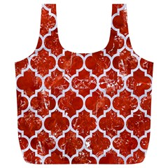 Tile1 White Marble & Red Marble Full Print Recycle Bags (l)