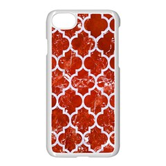 Tile1 White Marble & Red Marble Apple Iphone 8 Seamless Case (white) by trendistuff
