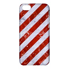 Stripes3 White Marble & Red Marble (r) Apple Iphone 5c Hardshell Case by trendistuff