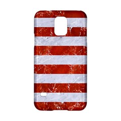 Stripes2white Marble & Red Marble Samsung Galaxy S5 Hardshell Case  by trendistuff