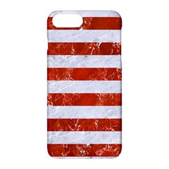 Stripes2white Marble & Red Marble Apple Iphone 8 Plus Hardshell Case by trendistuff