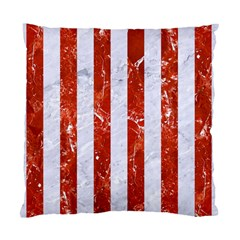 Stripes1 White Marble & Red Marble Standard Cushion Case (two Sides) by trendistuff