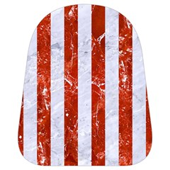 Stripes1 White Marble & Red Marble School Bag (small) by trendistuff