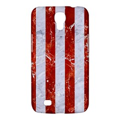 Stripes1 White Marble & Red Marble Samsung Galaxy Mega 6 3  I9200 Hardshell Case by trendistuff