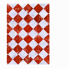 Square2 White Marble & Red Marble Large Garden Flag (two Sides) by trendistuff