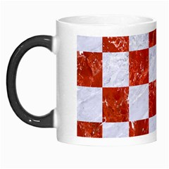 Square1 White Marble & Red Marble Morph Mugs by trendistuff